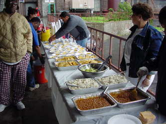 Barbecue Cook Out At The Living Room Shelter Hunts Point Bronx NY Summer Of 2006 Thank You All For Coming To Help Ron Farro Helping